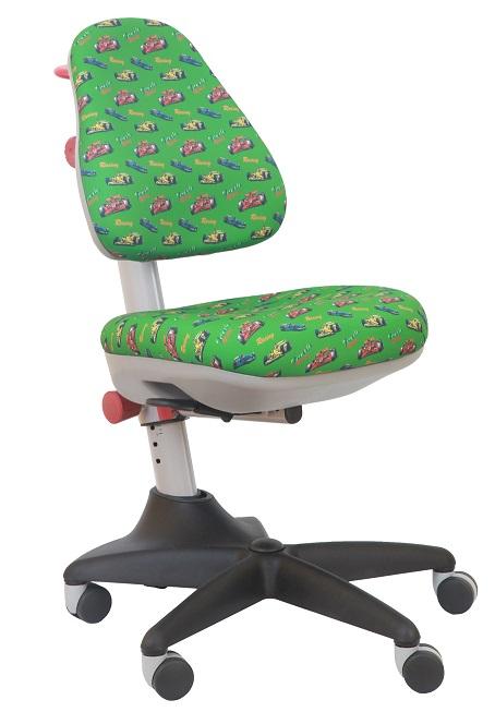 Кресло детское KD-2 ткань формула-1 на зеленом фоне