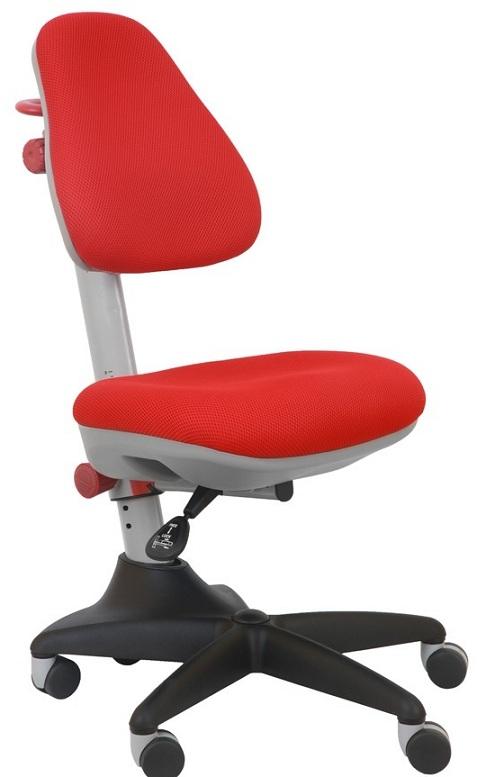 Кресло KD-2 красный пластик, ткань красная