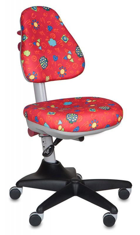 """Бюрократ Кресло детское KD-2 ткань """"божьи коровки на красном фоне"""""""