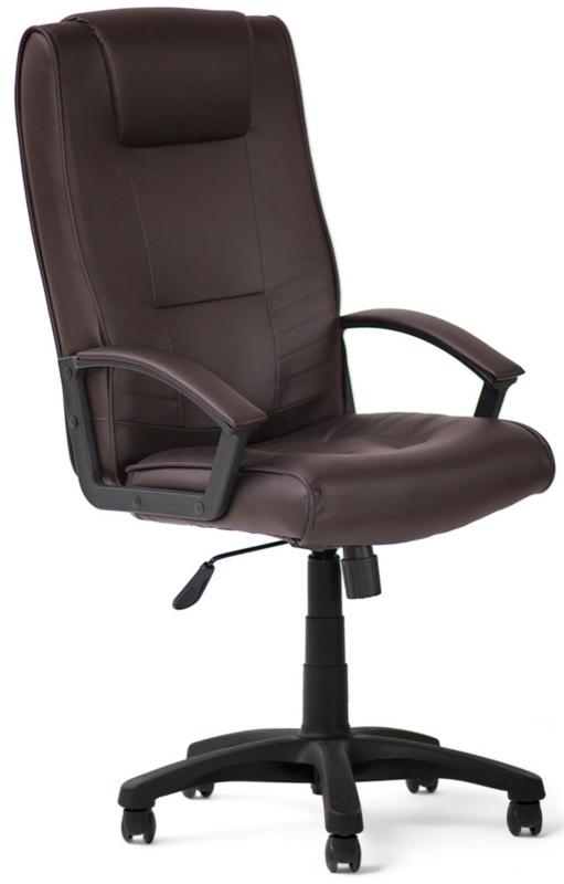 Кресло руководителя MAXIMA экокожа коричневая
