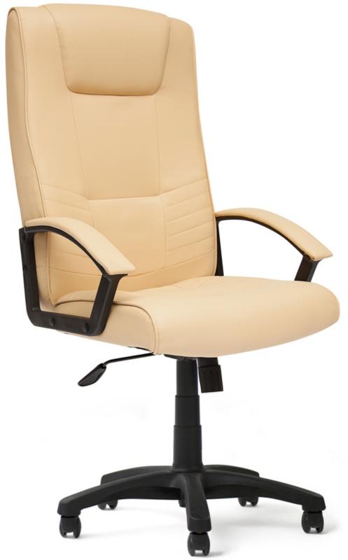Кресло руководителя MAXIMA экокожа бежевая