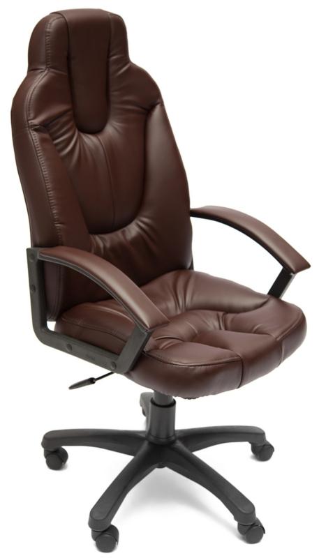 Кресло руководителя NEO2 Нео2 экокожа коричневая