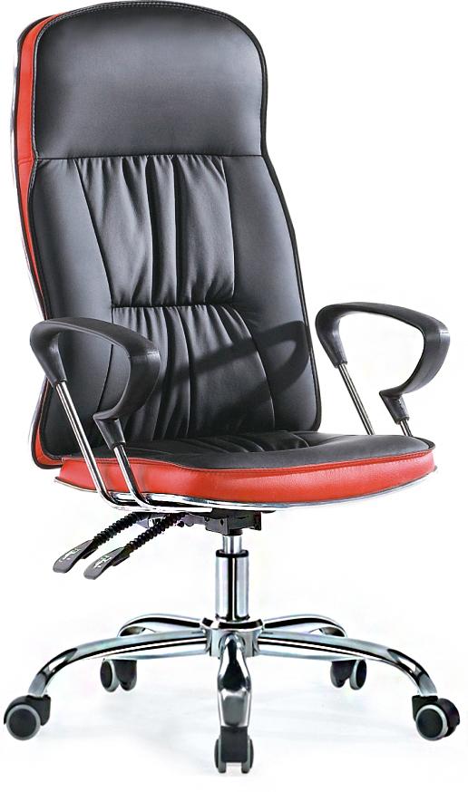 Кресло руководителя SB-A501 экокожа черный+красный