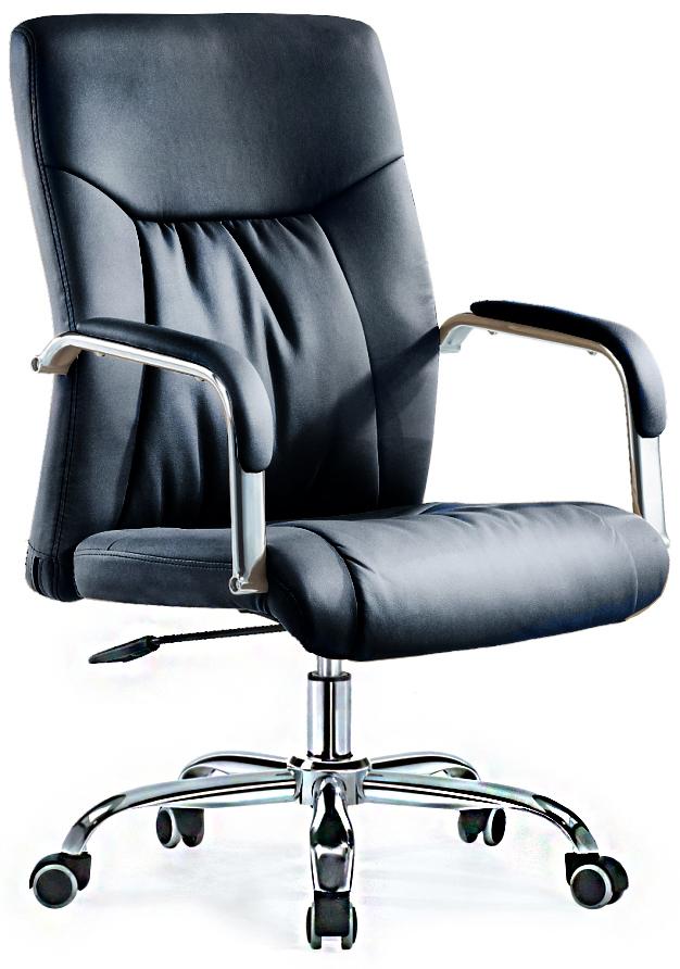 Кресло руководителя SB-A528 экокожа черная