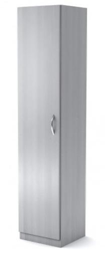 Шкаф узкий Simple Симпл серый