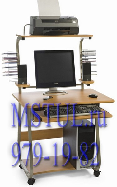 Стойка компьютерная ST-F808LCD орех F11