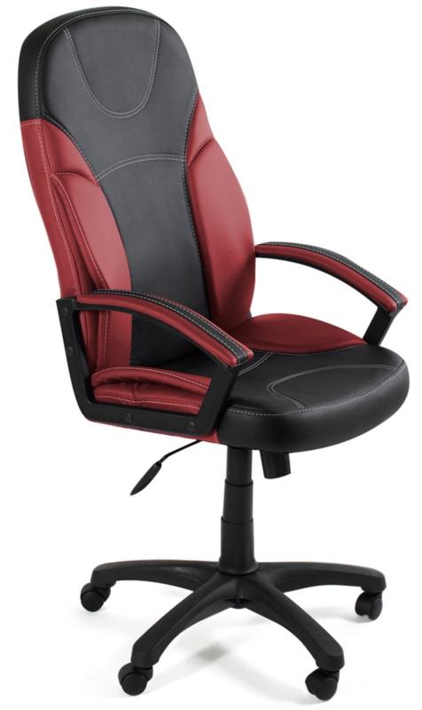 Кресло руководителя TWISTER экокожа черная, бордо