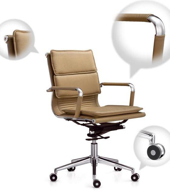 Кресло руководителя Veyron (M) CA16168 экокожа бежевая
