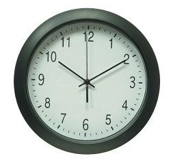Часы настенные R02P, круглые, черный, d30.5 см, плавный ход