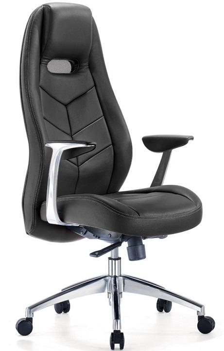 Кресло руководителя Zen Зен кожа черная