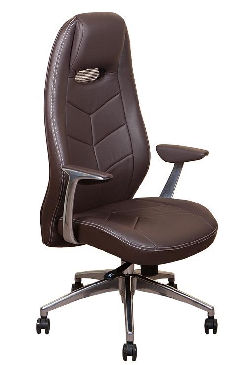 Кресло руководителя Zen Зен кожа коричневая
