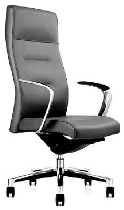 Кресло руководителя One СH-163 кожа черная