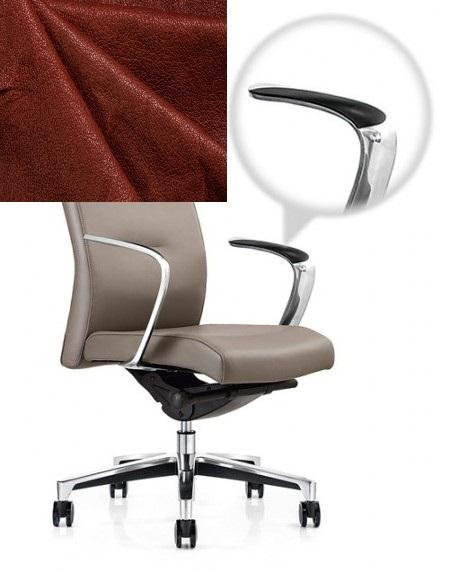 Кресло руководителя One СH-163 кожа коричневая