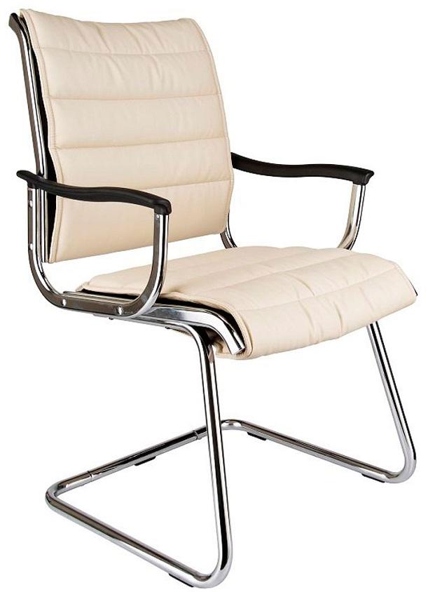Кресло посетителя CH-994AV иск. кожа цвета слоновой кости