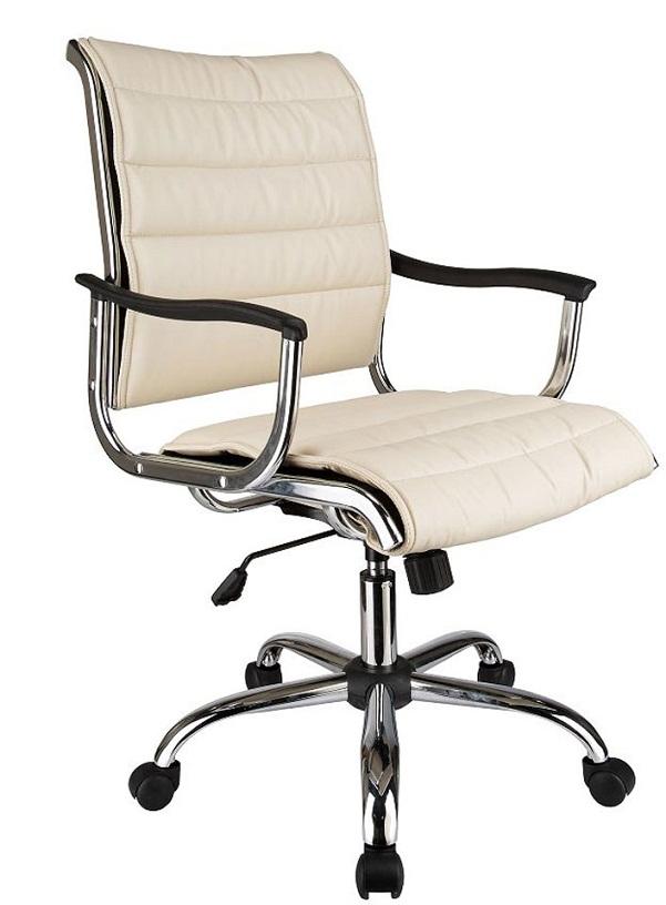 Кресло офисное CH-994AXSN иск. кожа цвета слоновой кости