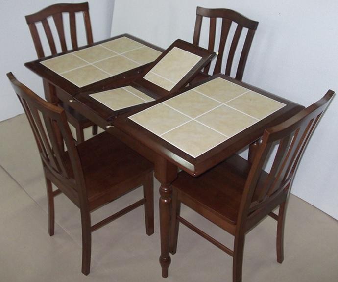 Стол обеденный CT 2950 с плиткой раскладной темный дуб