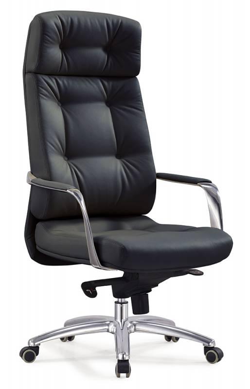 Кресло руководителя DAO ДАО кожа черная