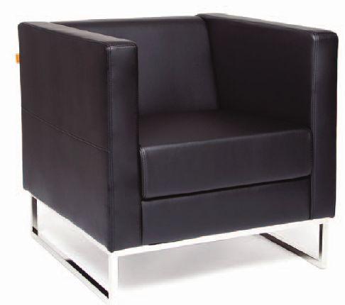 Кресло для отдыха Duna Дюна экокожа черная Terra 118