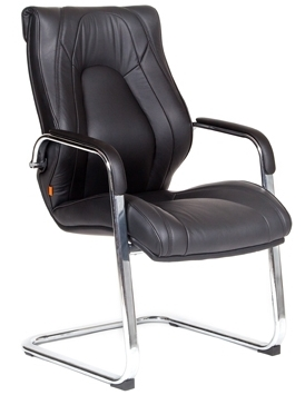 Кресло посетителя CHAIRMAN FUGA_V кожа черная