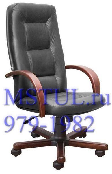 Кресло руководителя IDRA Идра кожа, дерево