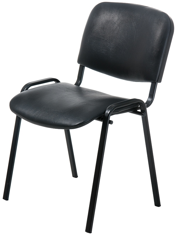 Стул ISO Black ИЗО черный каркас, кожзам