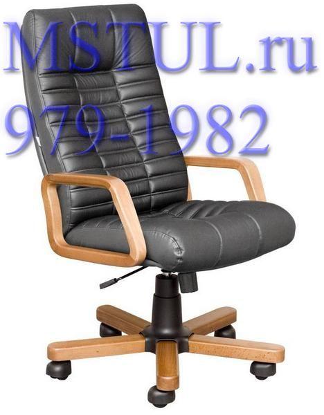 Кресло руководителя K44 Atlant Атлант кожа, дерево