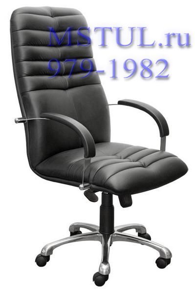 Кресло руководителя K49 Galaxy Гелакси кожа, хром