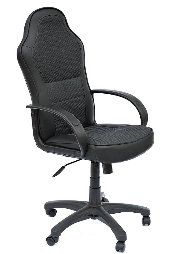 Кресло руководителя KAPPA Каппа, эко черный+ткань серый