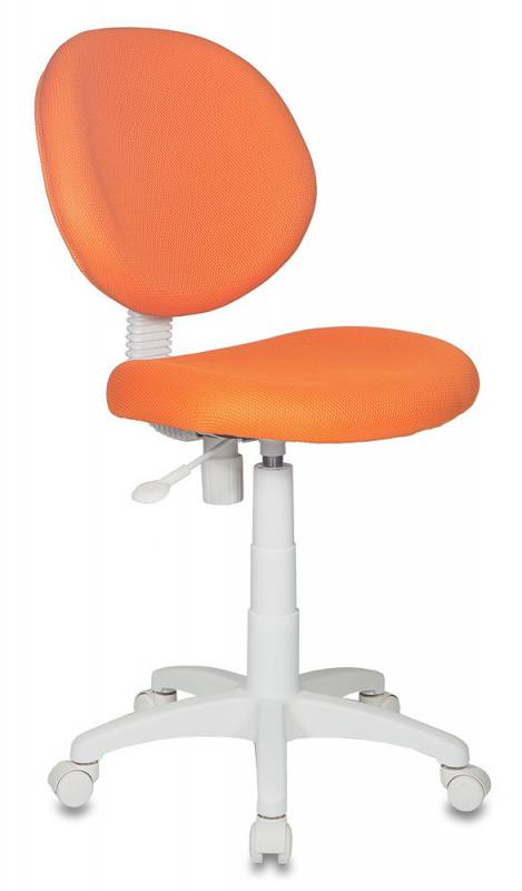 Бюрократ Кресло детское KD-W6 ткань оранжевая TW пластик белый