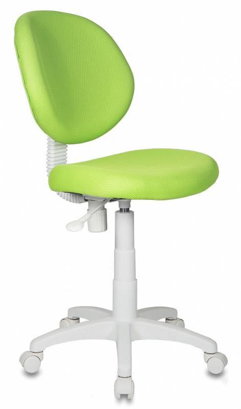 Кресло детское KD-W6 ткань салатовая TW пластик белый