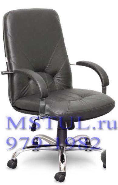 Кресло руководителя KOMO Комо кожа хромированное пятилучье