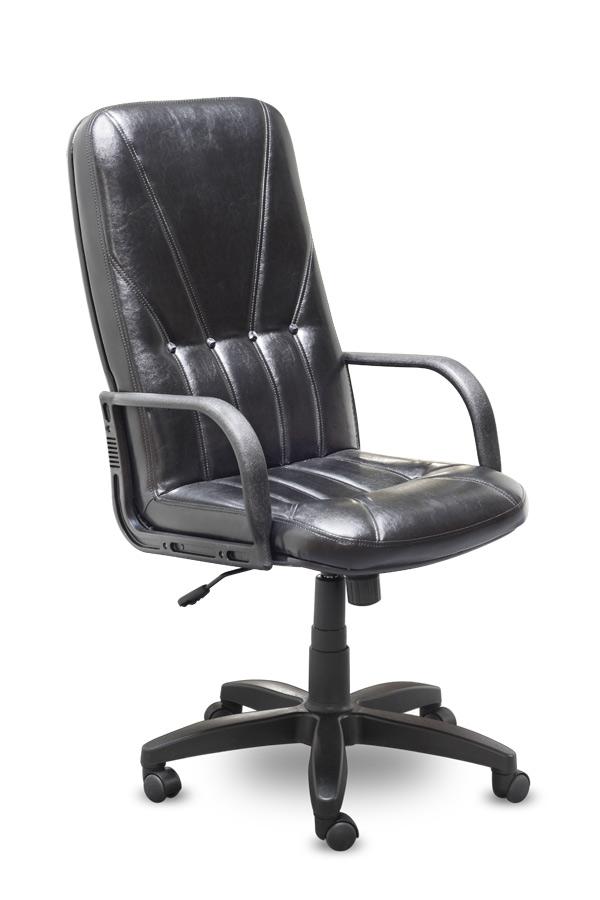 Кресло руководителя K12 Liberty Либерти экокожа черная