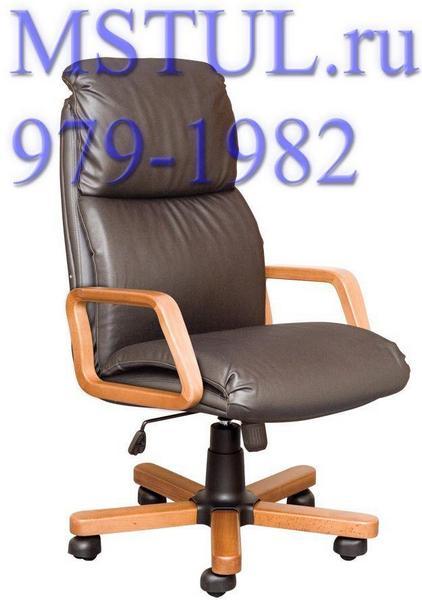 Кресло руководителя NADIR Надир кожа, дерево