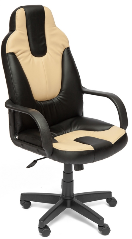 Кресло руководителя NEO1 Нео1 экокожа черный, вставки беж