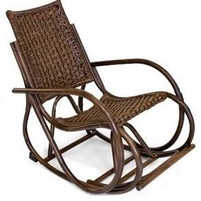 Tetchair Кресло-качалка из ротанга Radja Раджа цвет античный коричневый