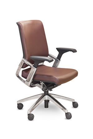 Кресло руководителя Ranger KA-02L кожа коричневая