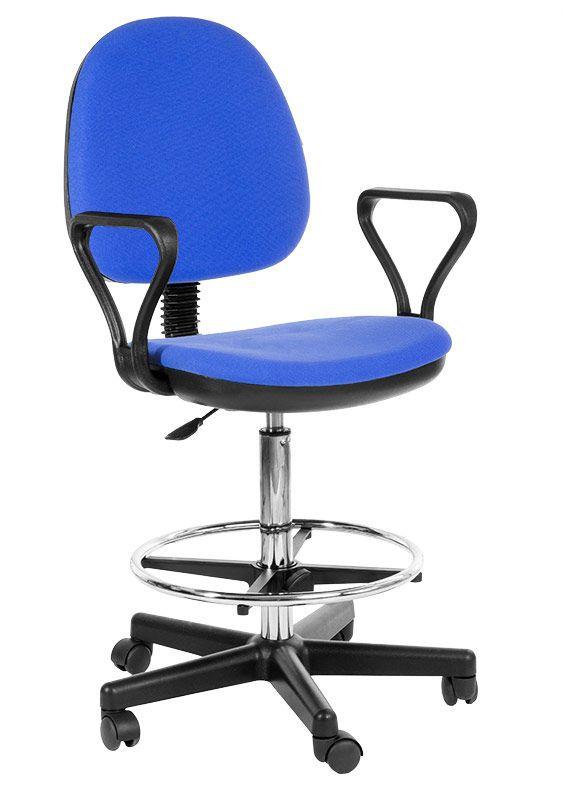 Кресло офисное Регал Regal ткань черная упор для ног, высокий га