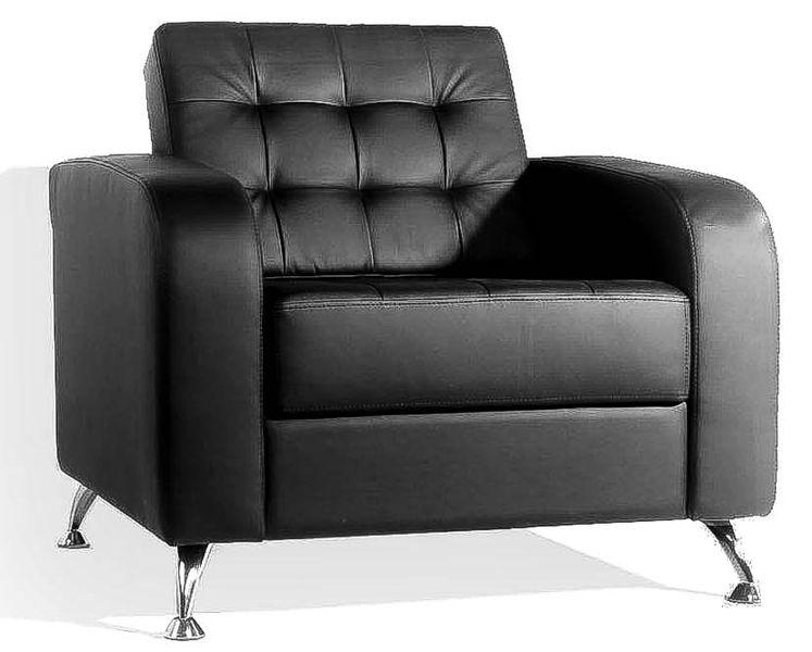 Кресло для отдыха Рольф экокожа черная Terra 118