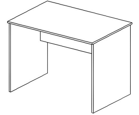 Skyland Стол письменный S-1400 Simple Симпл легно темный