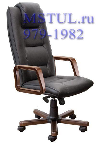 Кресло руководителя C44 Born Борн кожа, дерево