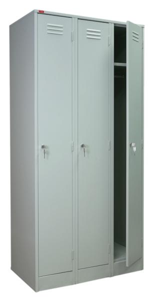 ШРМ-33 Шкаф для одежды металлический трехсекционный