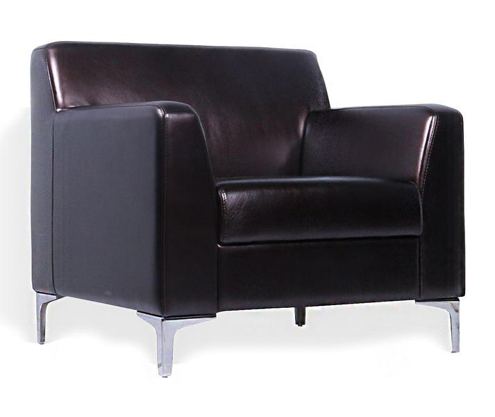 Кресло для отдыха Смарт экокожа черная Terra 118
