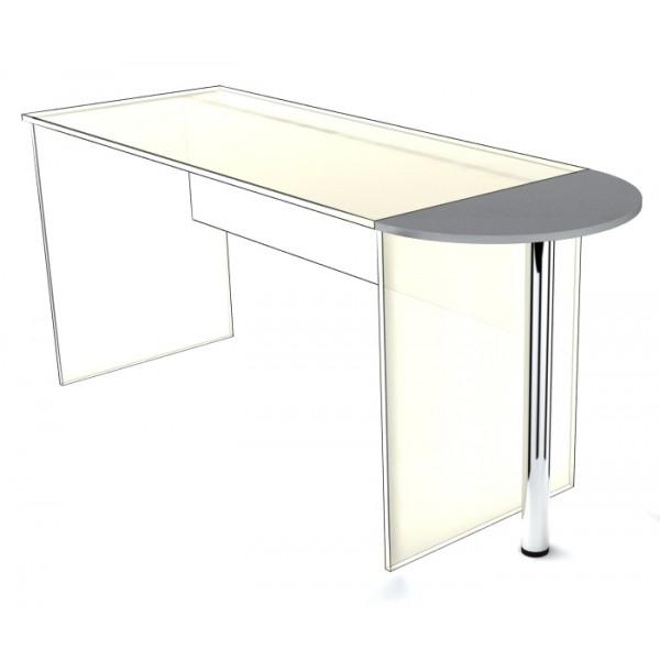 Приставка к столу SP-300 с опорой Simple Симпл серый