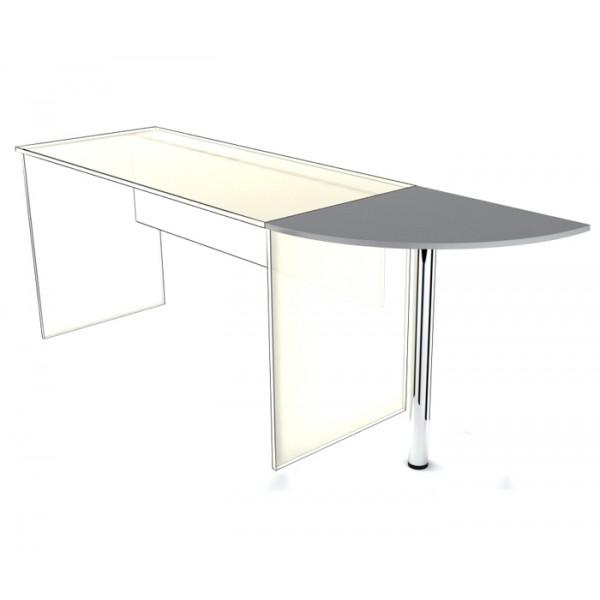 Приставка к столу SP-600 с опорой Simple Симпл серый