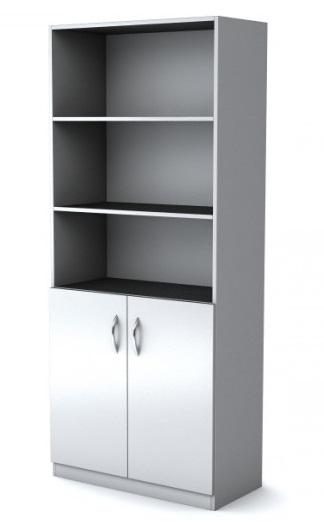 Шкаф широкий полуоткрытый Simple Симпл серый