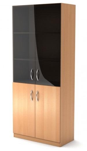 Шкаф широкий со стеклом Simple Симпл легно светлый
