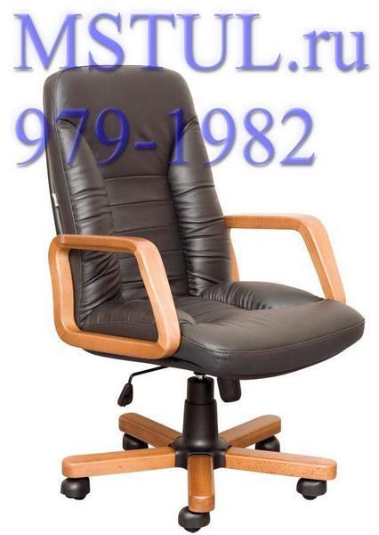 Кресло руководителя TANGO Танго кожа, дерево