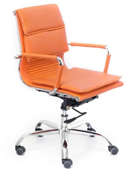 Кресло руководителя Veyron (M) CA16168 экокожа оранжевая
